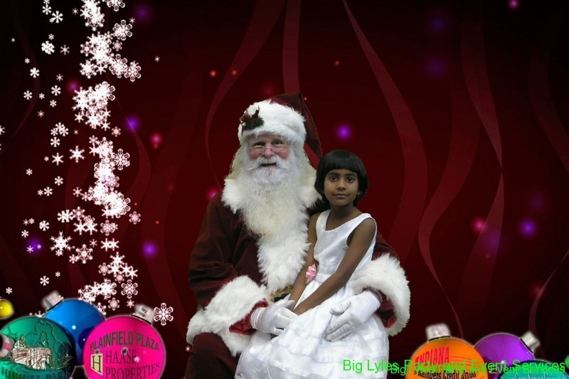 Green screen special effects, Christmas photo with Santa