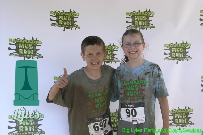 two young  friends at 2014 Kalamazoo Mud Run Race