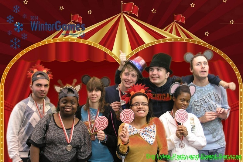 Michigan Special Olympic members in fun Big Top photo