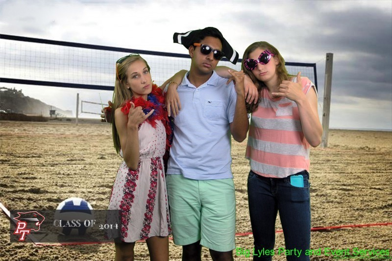 Teens on a sand volleyball court