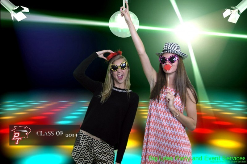 Two girls pictured at a Disco