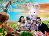 Easter Photos: Family Photo With The Bunny