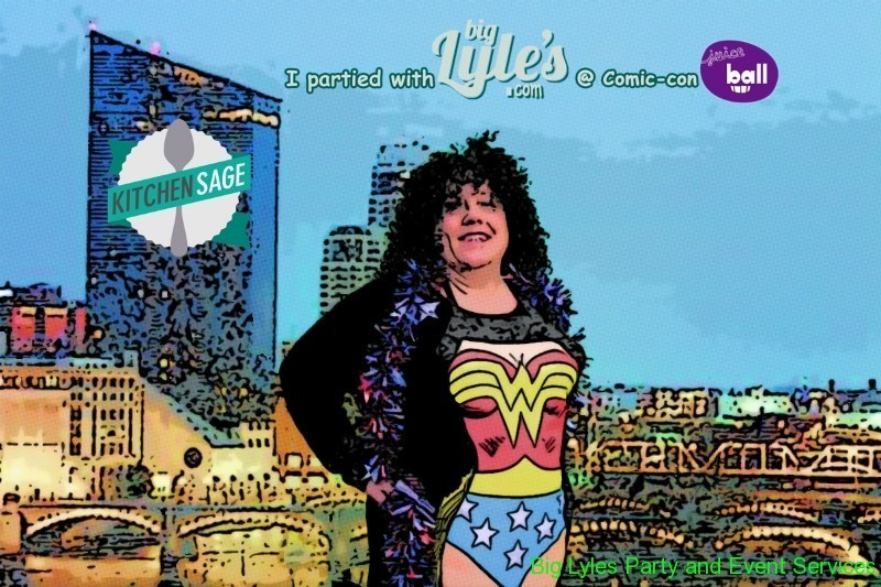 Photo of women in costume turned into comic strip