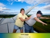 Fun Photos: Man on wind turbine