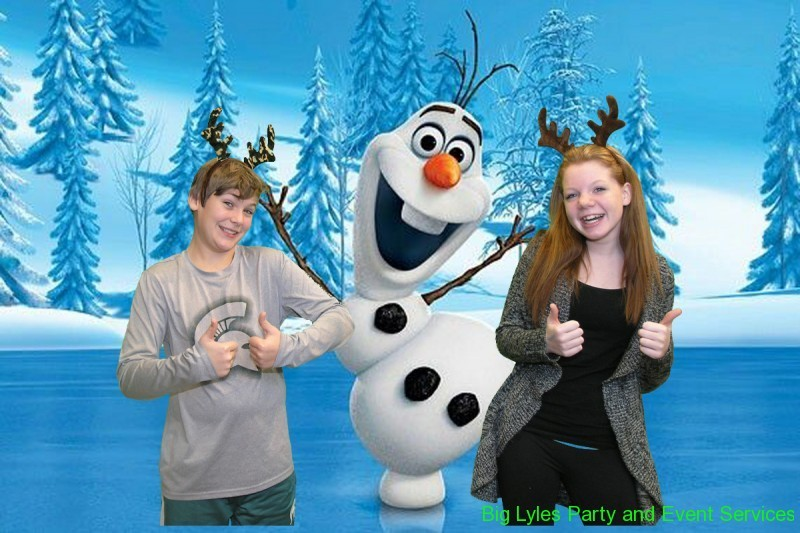 girls dancing with Olaf from frozen