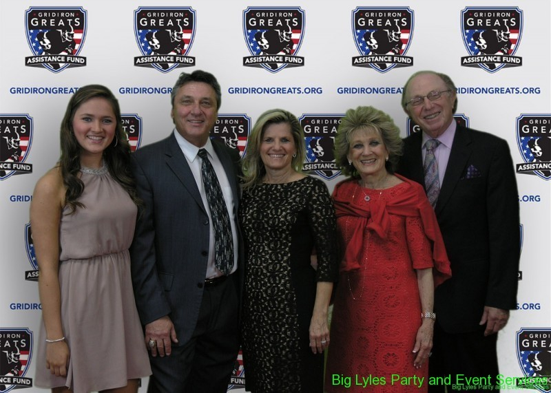 Supporting guests  on the Red Carpet at 2014 Detroit Gridiron greats event