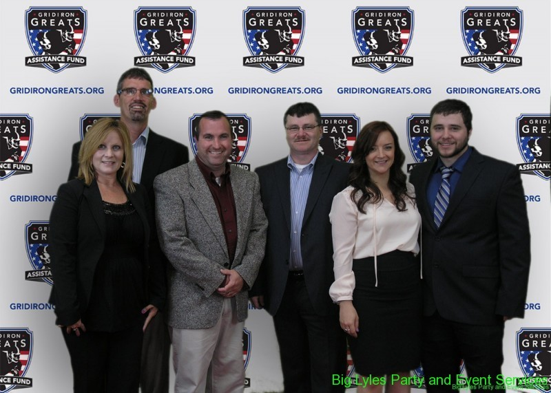 Group of attendees on the Red Carpet at 2014 Detroit Gridiron greats event