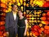 Secret Agent Photos: Couple in front of Colorful Background