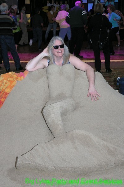 Sand Sculpture of mermaid, Fun photo op