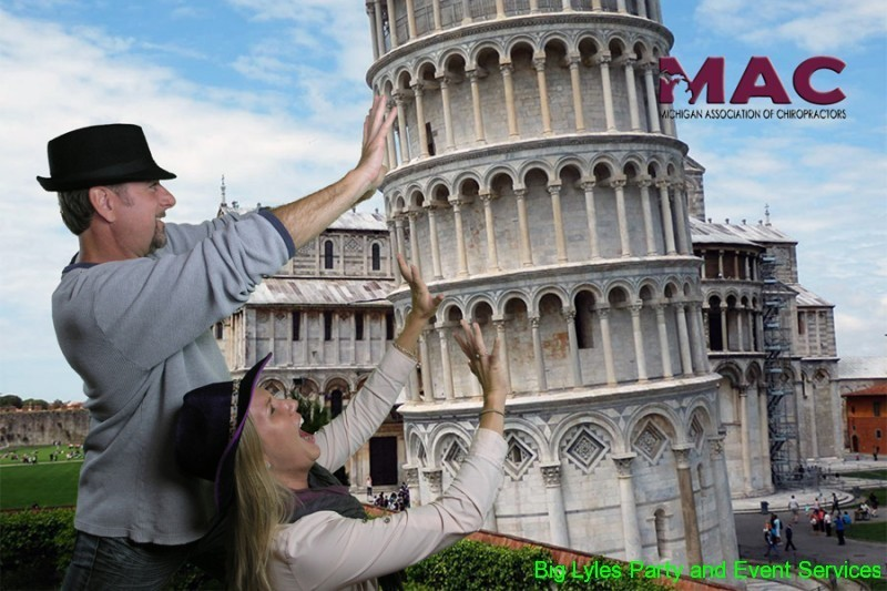 couple trying to save The leaning Tower of pesa