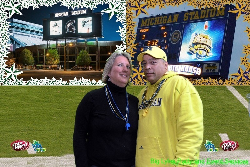 University of Michigan Fan photos, open air photo booth