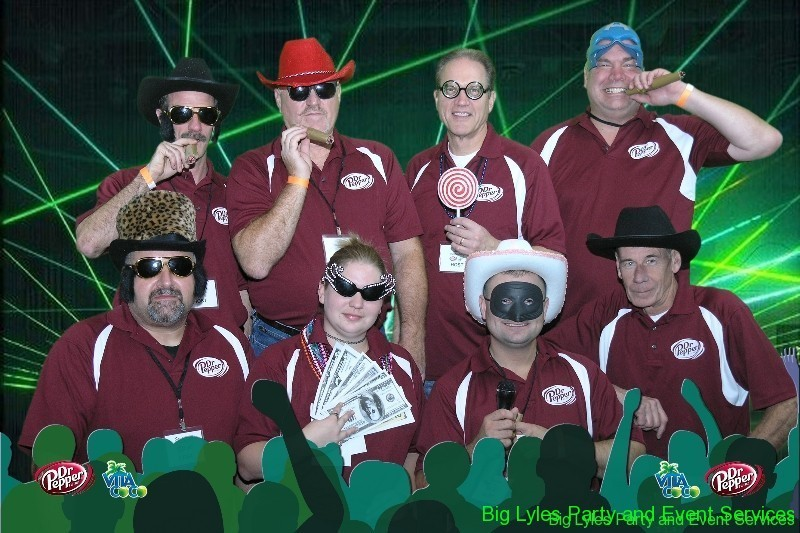Marketing and Sales staff love custom photos from Green screen photo station for branding