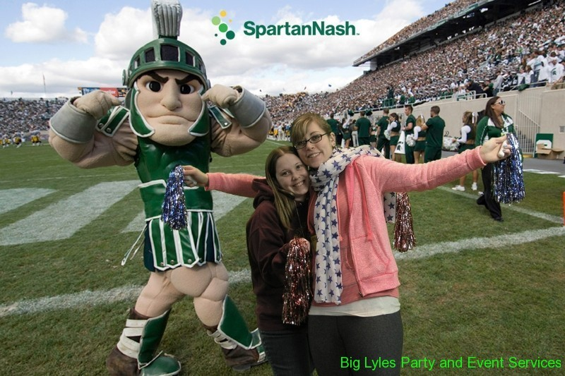 funny picture of fans made with green screen photography