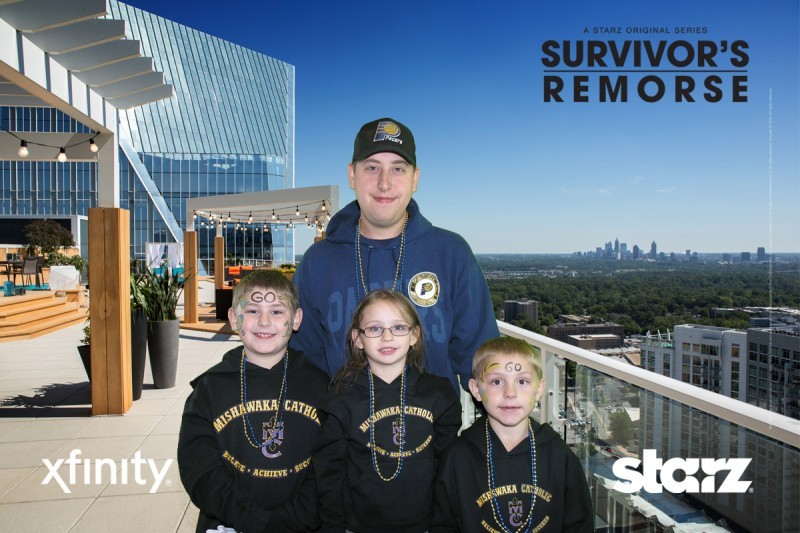 Family of pacers fans at Bankers Life Field House