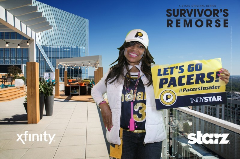 Pacers fan at opening game for Starz Entertainment