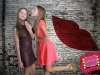Two friends pose for a cute valentine themed picture