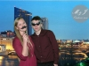 Couple is transported to a cityscape with green screen technology!
