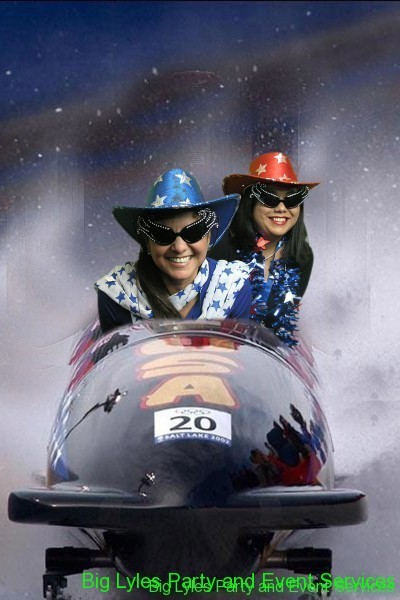 Couple in a bobsled