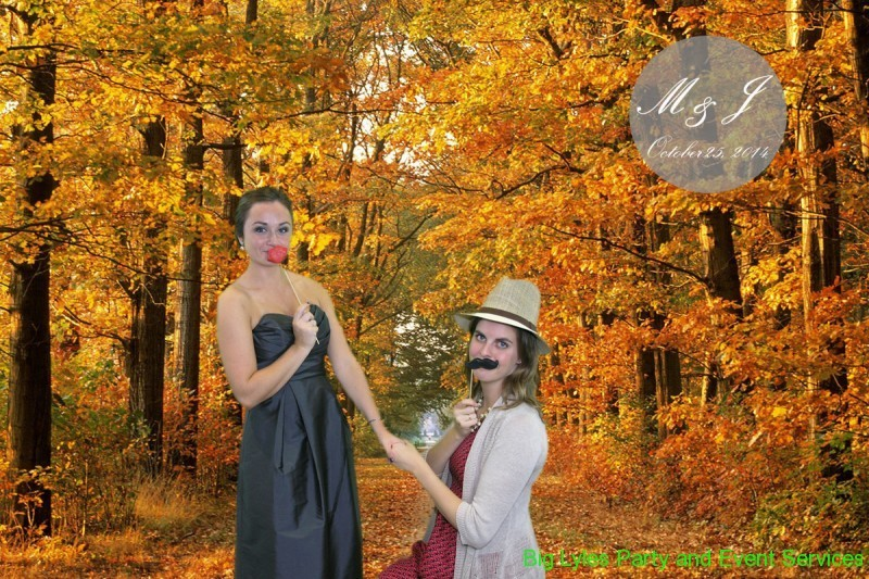 Girls at play in the fall