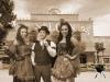 Old Time Photos: The Life of the Party in front of Saloon