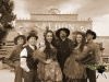 Old Time Photos: Event Attendees Standing in front of the Saloon