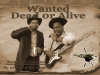Old Time Photos: 2 Partiers Rock Out a Wanted Poster