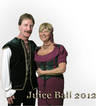Couple in Renaissance costumes