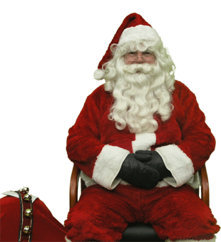 Santa sitting in chair