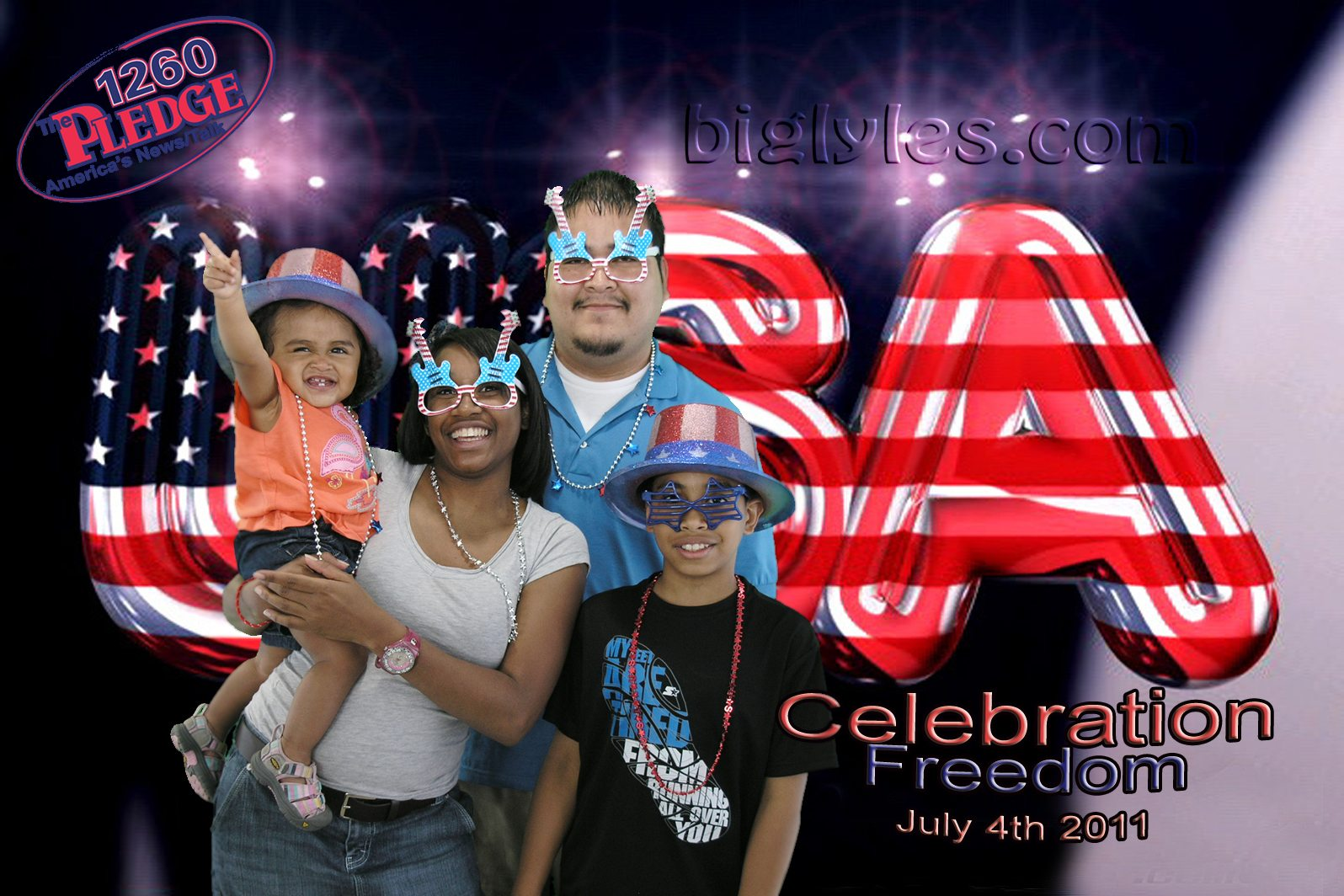 Family 4th of July celebration photo