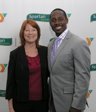 Ann Webster with Desmond Howard