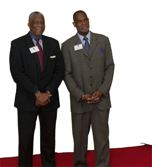 two men at 2014 Gridiron Greats