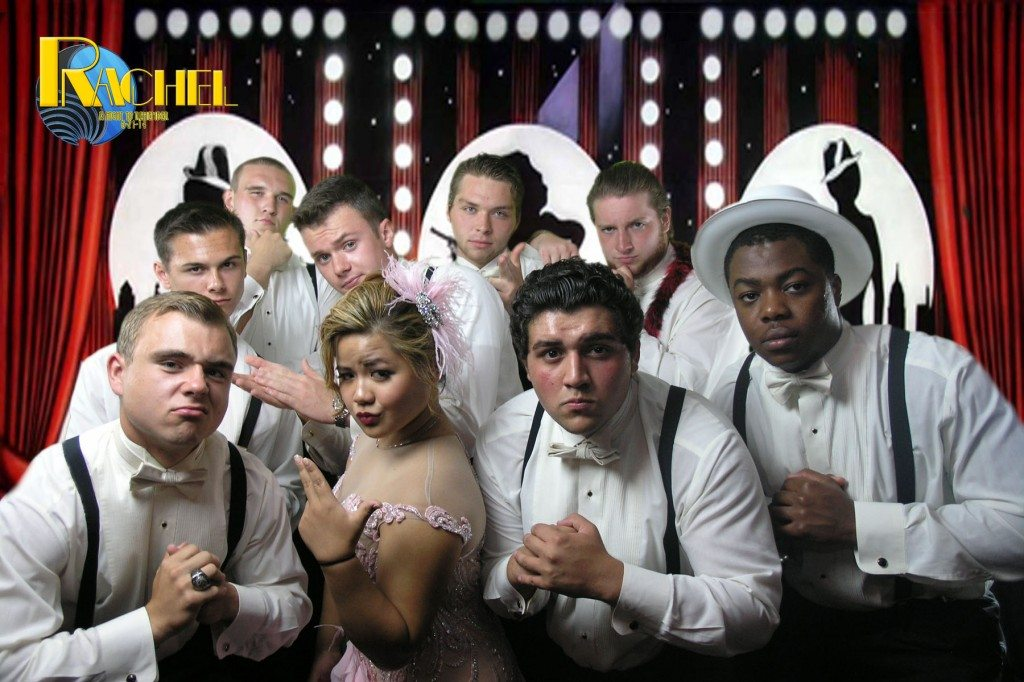 debutante with her escorts