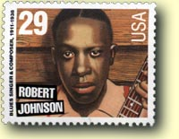 US Postage stamp of Rober Johnson